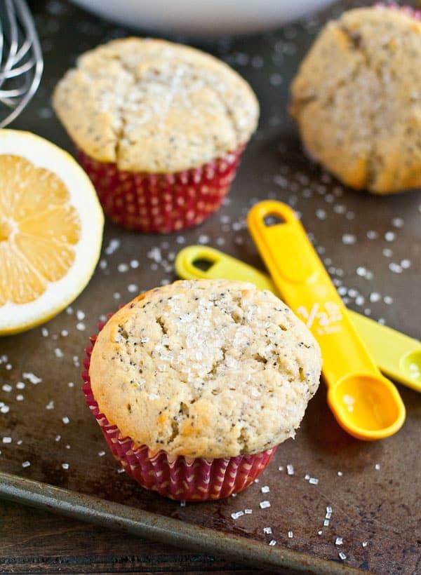 Lemon Raspberry Poppyseed Muffins via NeighborFoodBlog.com