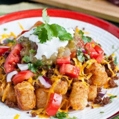 Loaded Taco Tater Tots via NeighborFoodBlog.com