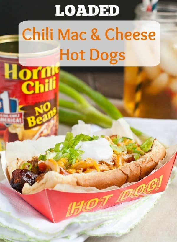 Loaded Chili Macaroni and Cheese Hot Dogs from NeighborFoodBlog.com