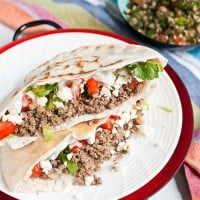 Easy Ground Beef Gyros by NeighborFoodBlog.com
