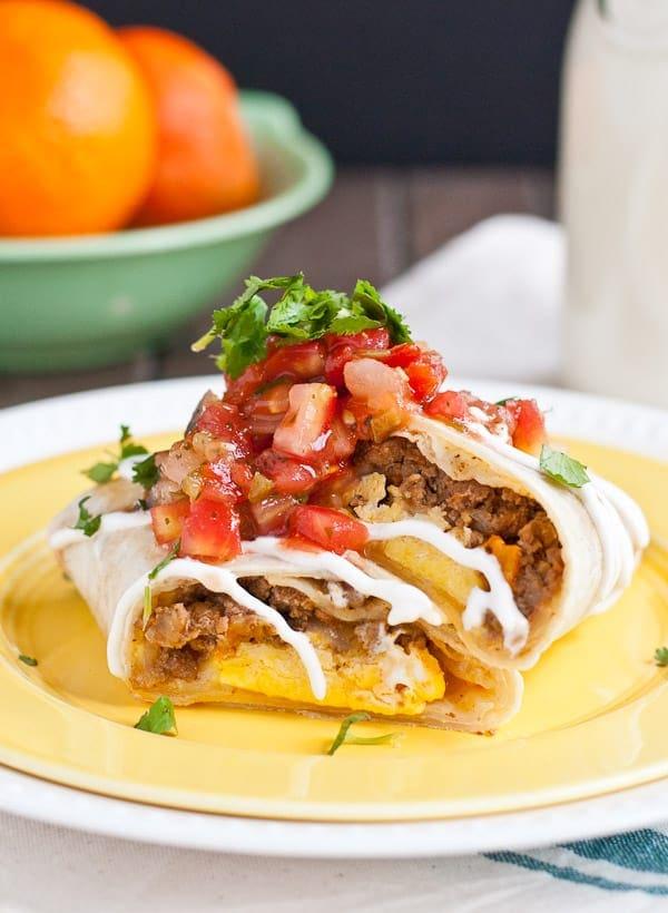 Frozen Mexican Breakfast Burritos from NeighborFoodBlog.com