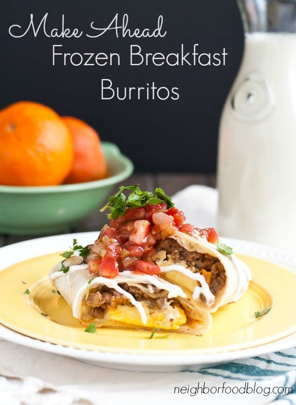 Make Ahead Frozen Breakfast Burritos are a convenient way to get a protein packed breakfast!