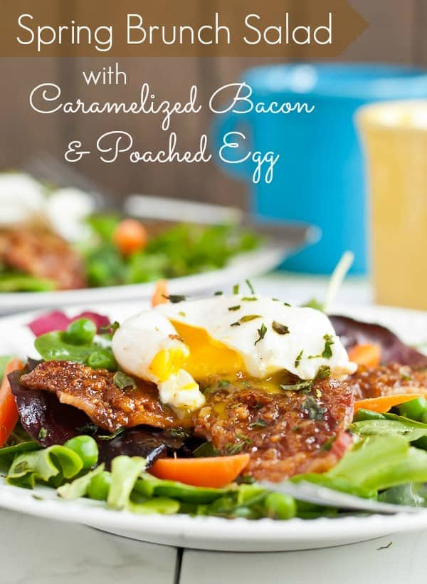 Spring Brunch Salad with Caramelized Bacon and Poached Egg | NeighborFood