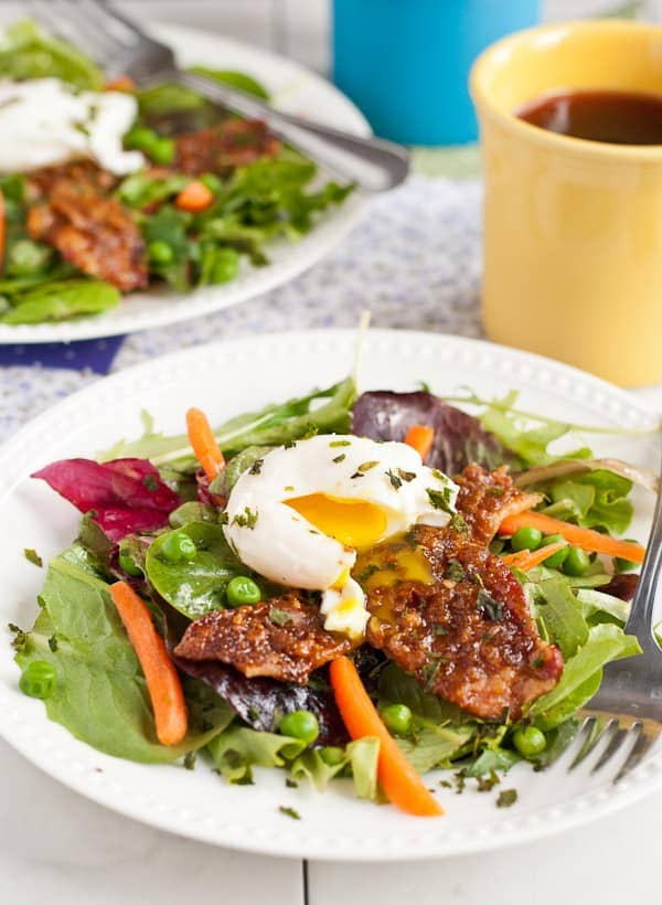 Spring Brunch Salad with Caramelized Bacon via NeighborFoodBlog.com