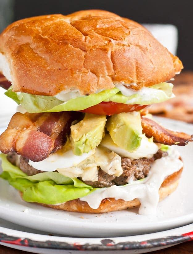 Cobb Salad Burger from NeighborFood | Neighborfoodblog.com