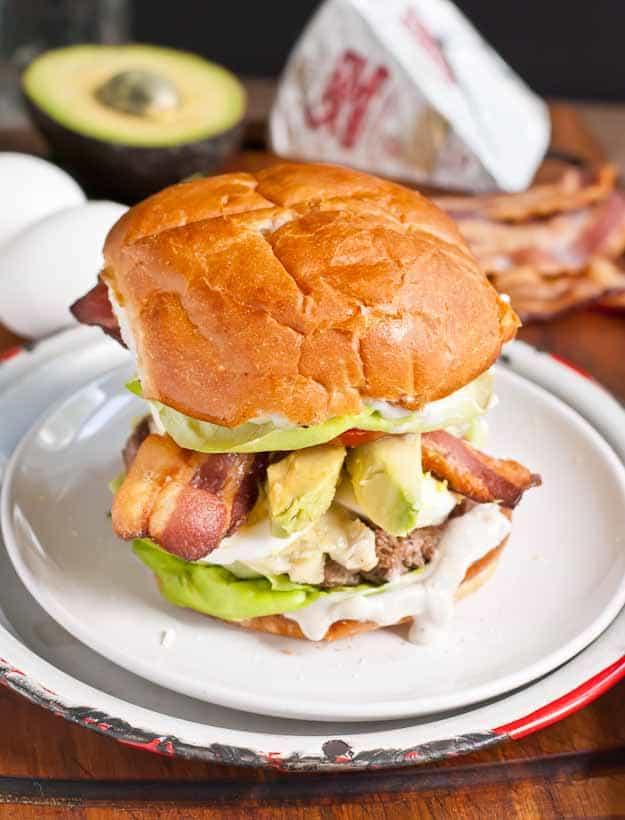 Cobb Salad Burger from NeighborFoodBlog.com