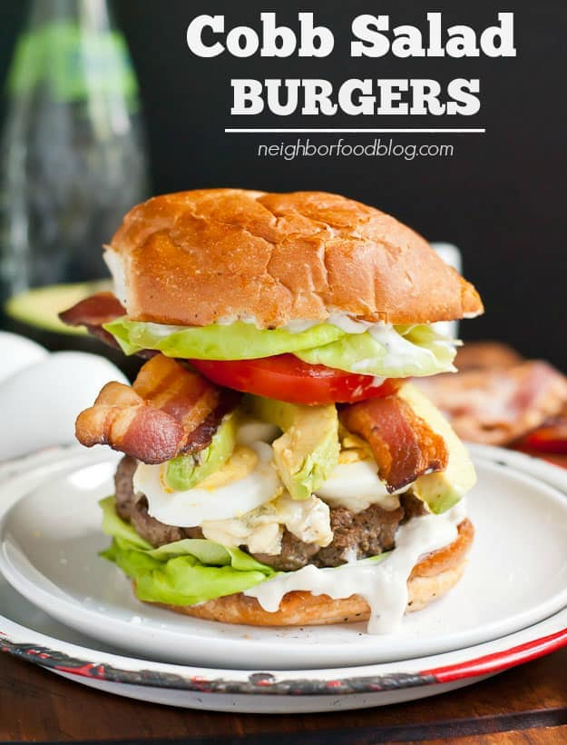 Cobb Salad Burger via NeighborFoodBlog.com