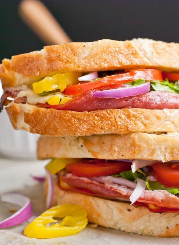 Foil Packet Grilled Italian Sandwich Loaf via NeighborFoodBlog.com
