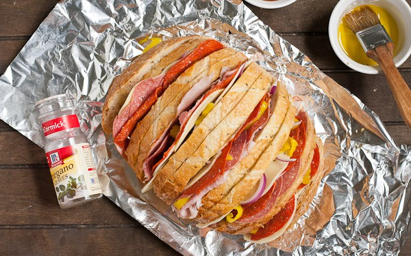 Grilled Italian Sandwich Loaf made in a foil packet!
