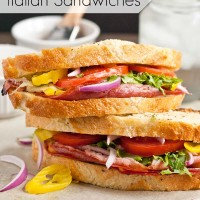 These Grilled Italian Sandwiches are made in a foil packet on the grill!
