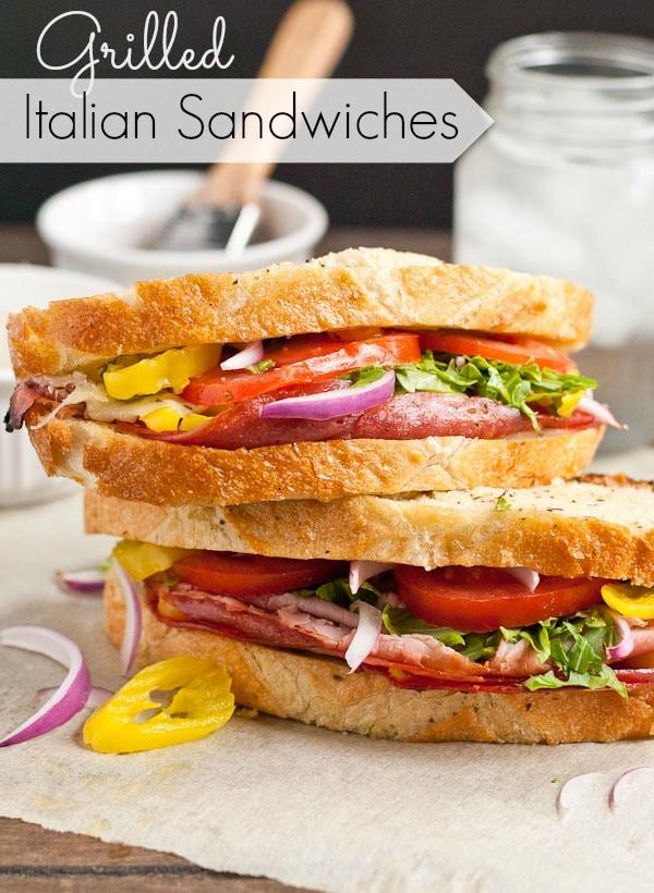 Grilled Italian Stuffed Sandwich Loaf