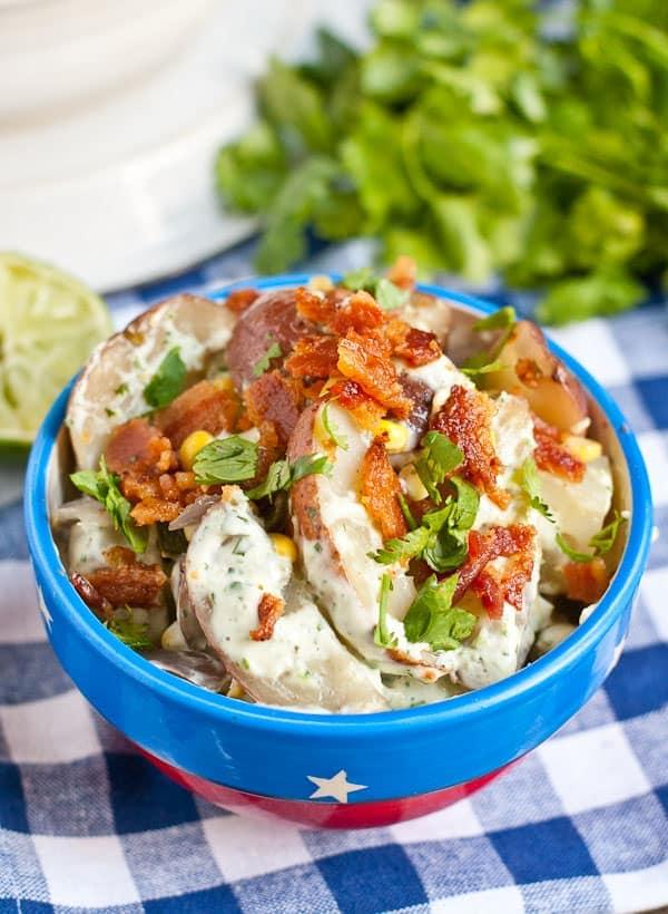 Grilled Jalapeno Bacon Corn Potato Salad via NeighborFoodBlog.com