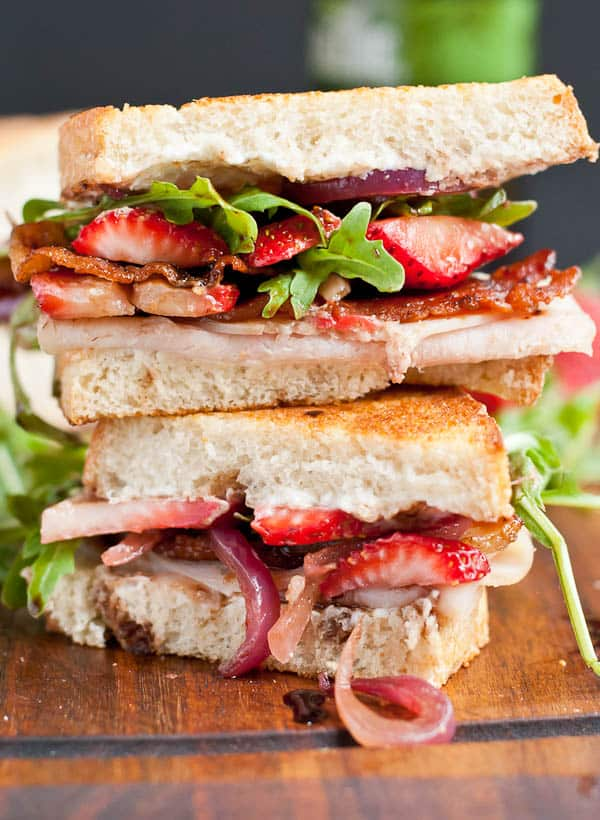 Strawberry Bacon Goat Cheese Grilled Cheese-the ultimate summer sandwich!