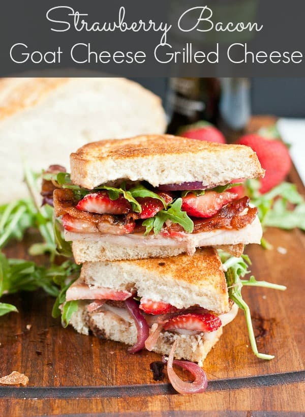 The Ultimate Strawberry Bacon Goat Cheese Grilled Cheese via NeighborFoodBlog.com