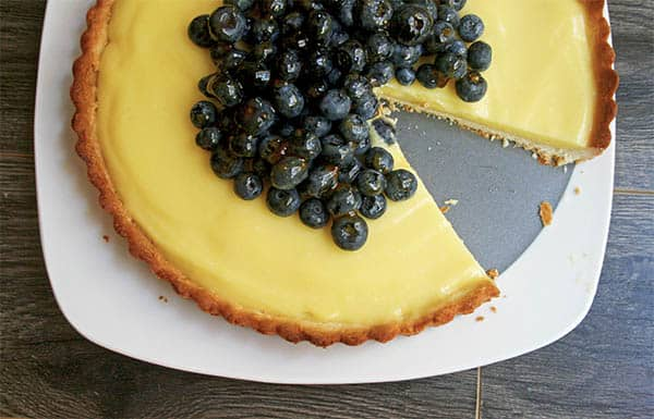 Lime Tart with Blueberry Apricot Topping