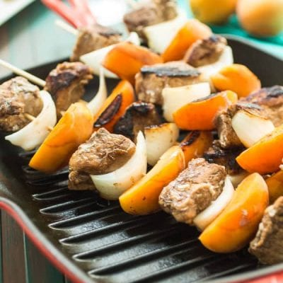 Pork and Apricot Kebabs - Courtney