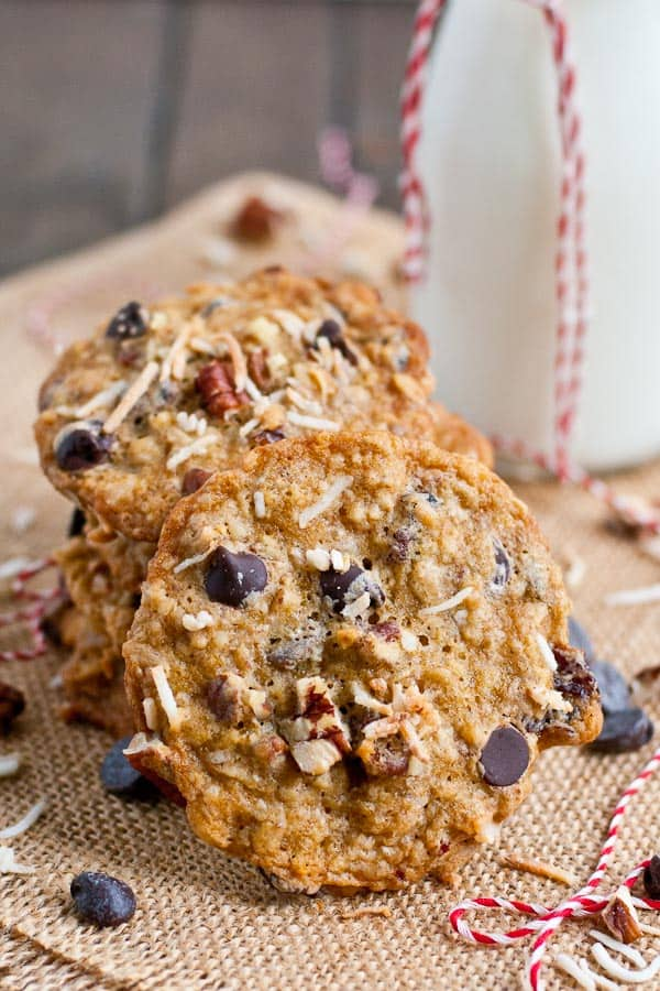 Toasted Coconut Pecan Chocolate Chip Cookies | NeighborFoodBlog.com
