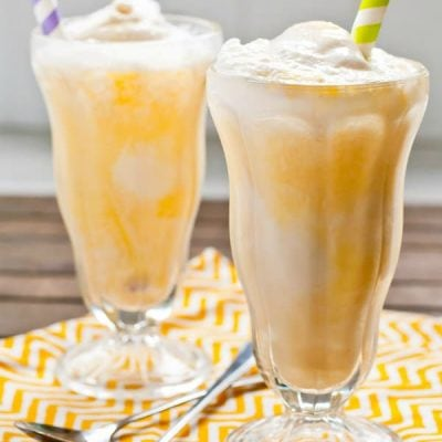 These dreamy Creamsicle Ice Cream Floats are made in a flash with only 3 ingredients!