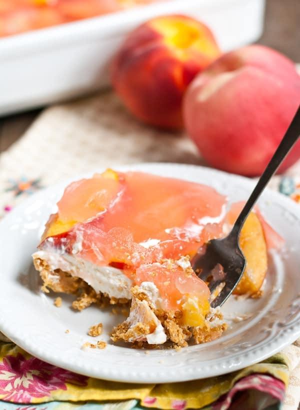 No Bake Peach Delight- an easy dessert recipe for summer!