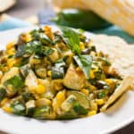 Roasted Corn and Zucchini Salsa