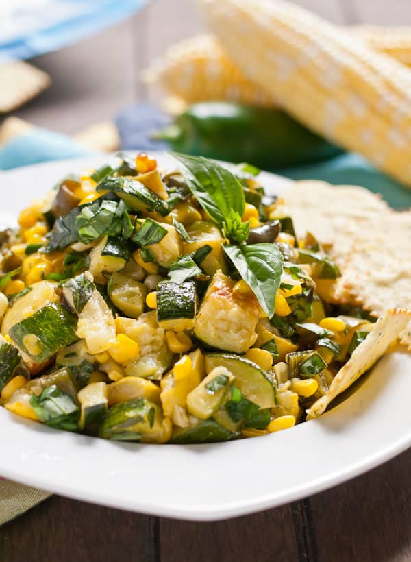 Roasted Corn and Zucchini Salsa from NeighborFoodBlog.com