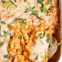 This Cheesy Ground Beef Company Casserole is an easy, make ahead friendly, comfort food meal!