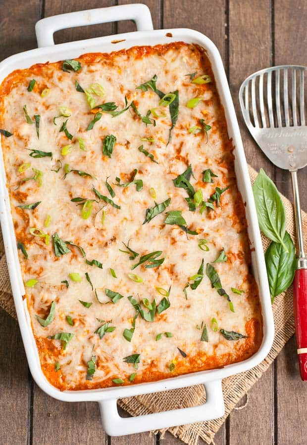 This crowd pleasing Company Casserole is a delicious combination of ground beef, pasta, tomato sauce, and cheese.