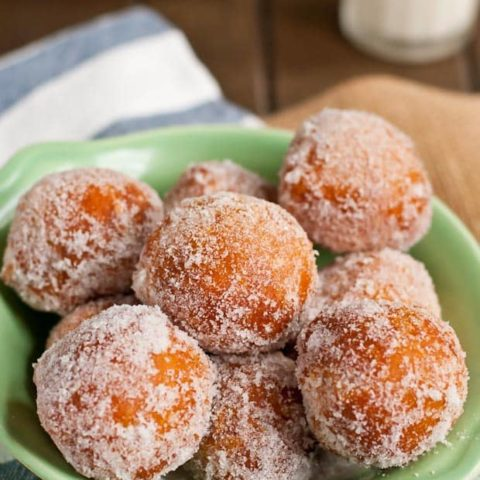 These Copy Cat Asian Buffet Donuts require only three ingredients and are so easy to make!
