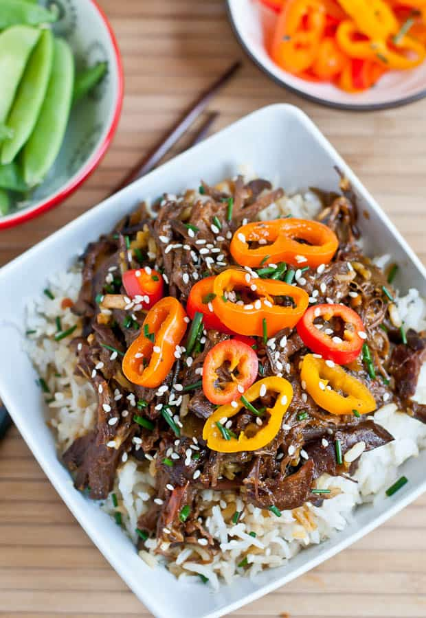Let the slow cooker do all the work with this Crock Pot Asian Honey Sesame Beef.