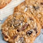 Salted Milk Chocolate Cherry Oatmeal Cookies