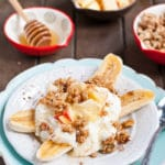 Cinnamon Apple Breakfast Banana Splits