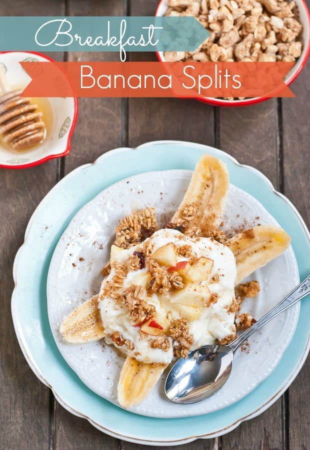 These Breakfast Banana Splits are a fun, easy, and healthy way to start the day!