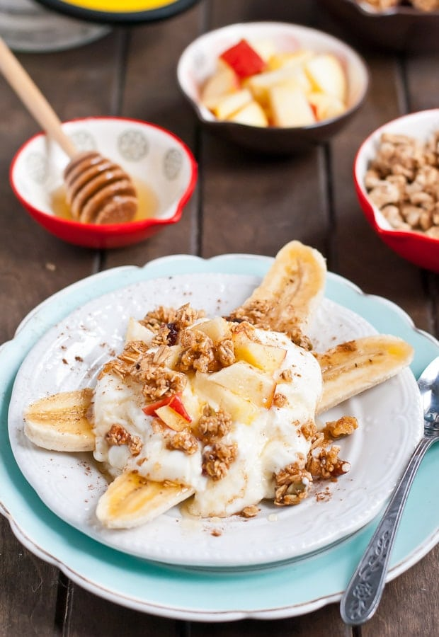 This Breakfast Banana Split is an easy recipe that's a great healthy start for your day!