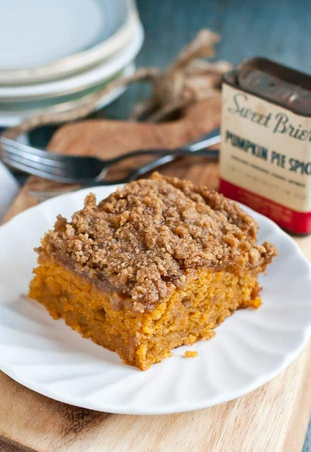 Try this Pumpkin Spice Crumb Cake recipe for a chilly fall morning!