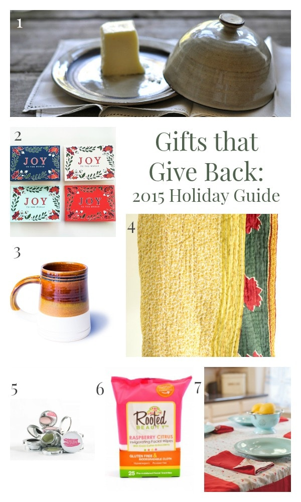 There's a little something for everyone in this collection of GIfts that Give Back. Make a difference this Christmas!
