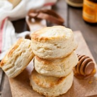 A hint of vanilla and orange spice up these classic, ultra flaky buttermilk biscuits.