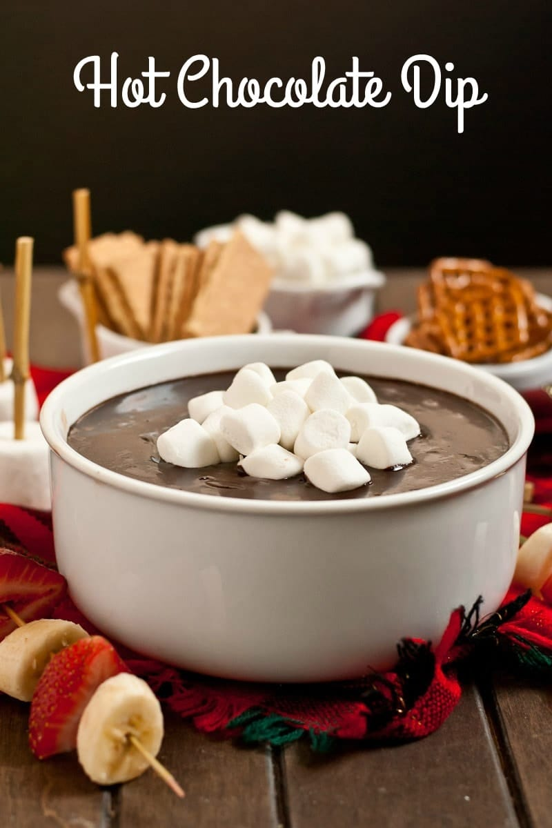 This Hot Chocolate Dip is the perfect four ingredient holiday party dessert!