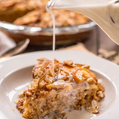 Apple, pears, and almond slices top this easy, Amish Baked Oatmeal.