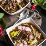 Slow Cooker Asian Beef and Mushroom Noodle Soup