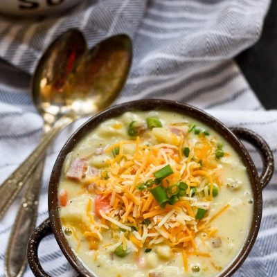 Next time you have leftover ham, you'll want to make this Creamy Ham and Potato Soup!