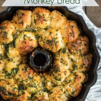 This savory pull apart monkey bread is stuffed with cream cheese dip and loaded with jalapenos and cheddar.