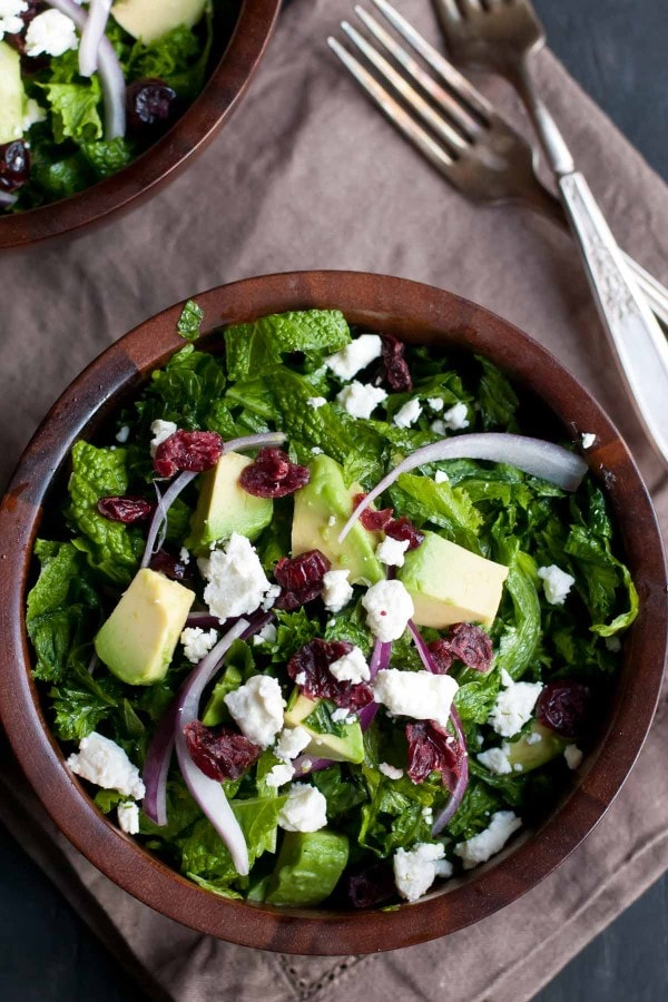 This Massaged Kale Cranberry and Avocado Salad will have even kale haters asking for more!