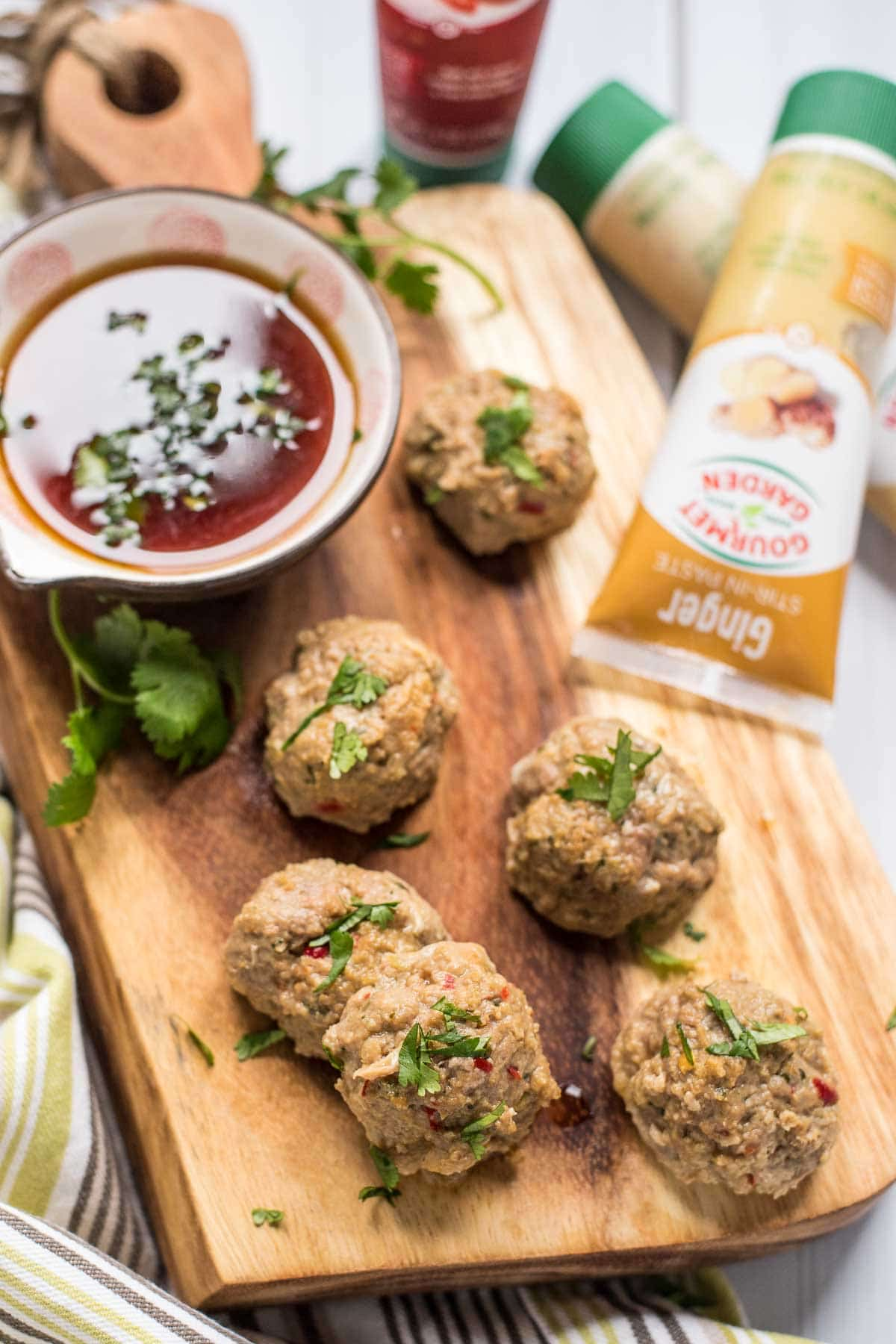 These Thai Turkey Meatballs loaded with ginger, garlic, cilantro, and chili pepper pack just the right amount of heat.