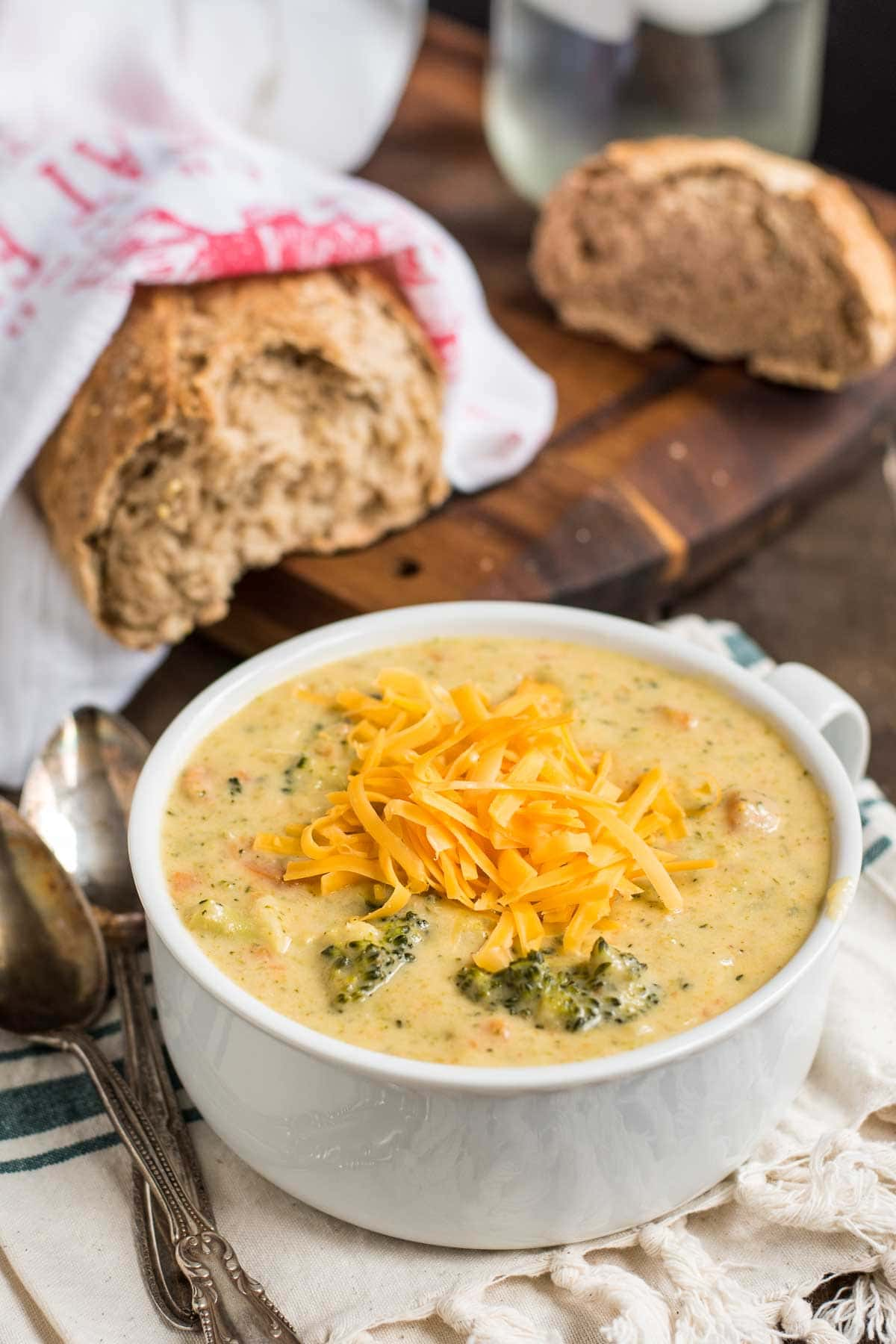 Creamy, cheesy, and easy to make, this Broccoli Cheddar Soup is a staple recipe!