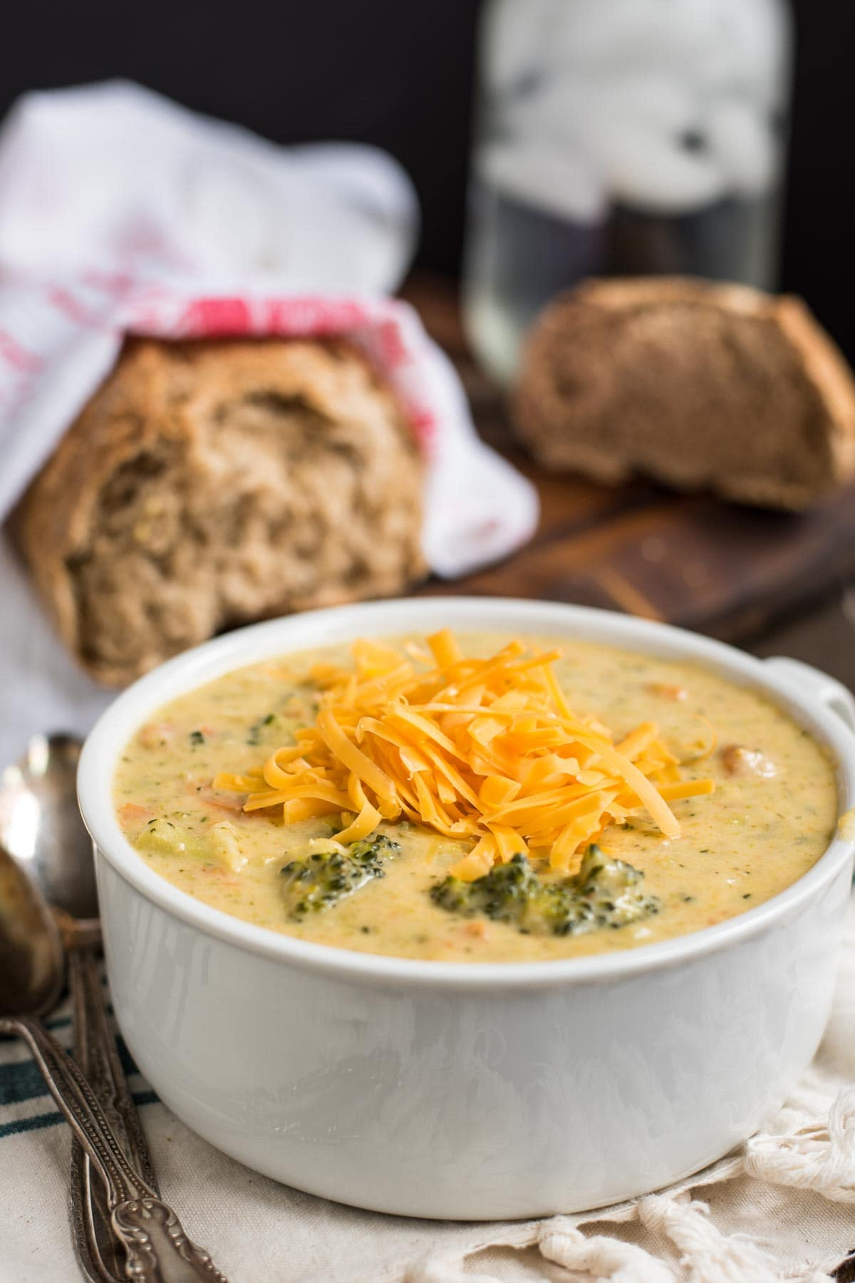This classic Broccoli Cheddar Soup is creamy, cheesy, and the perfect amount of richness.