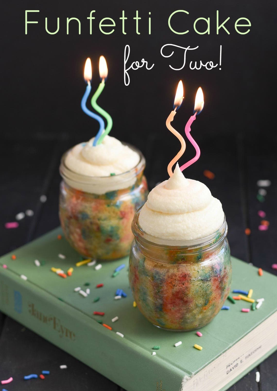 You don't need an excuse to celebrate with these easy Funfetti Cakes for two!