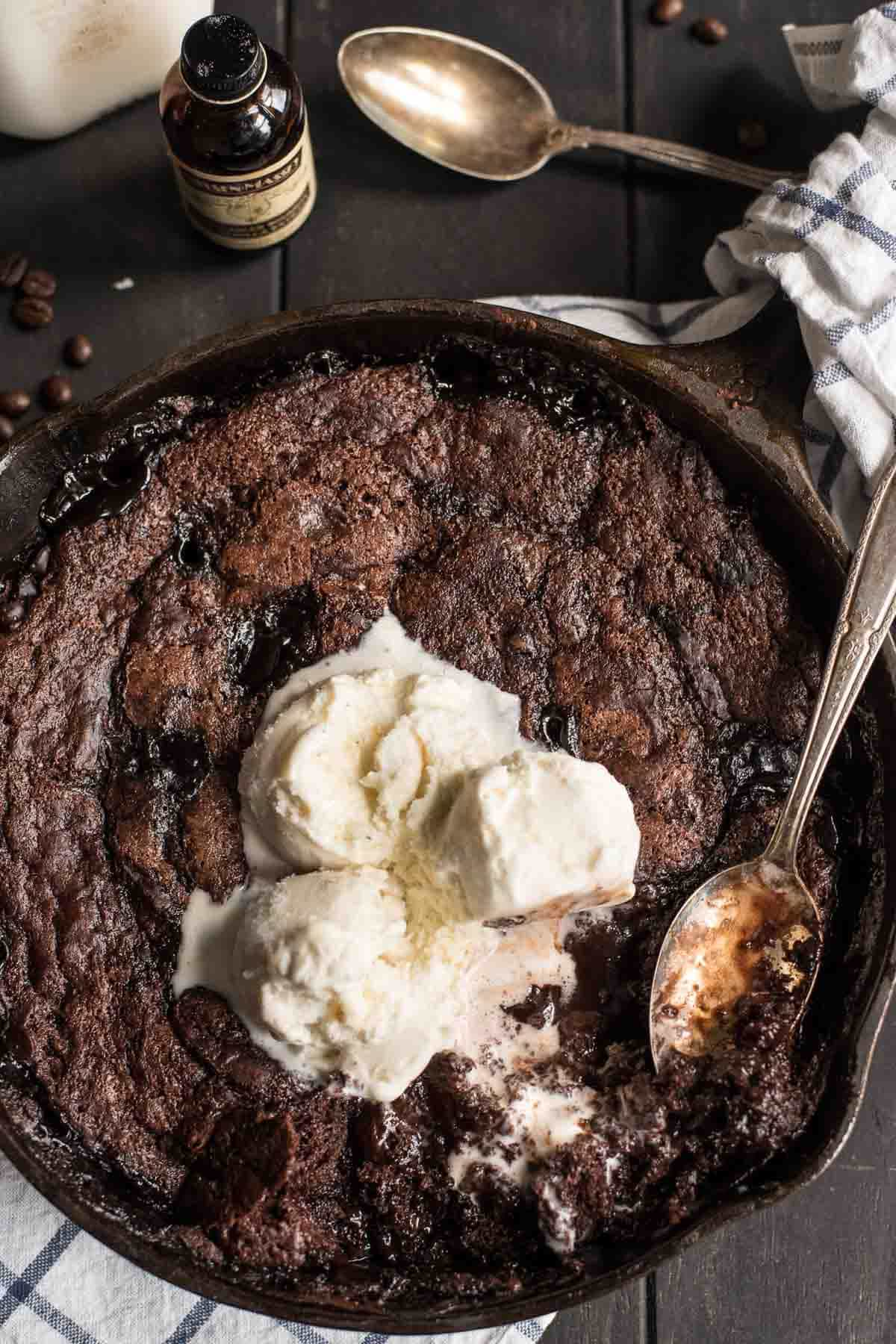 This Mocha Chocolate Cobbler is a rich and indulgent recipe for Valentine's Day or any special occasion.