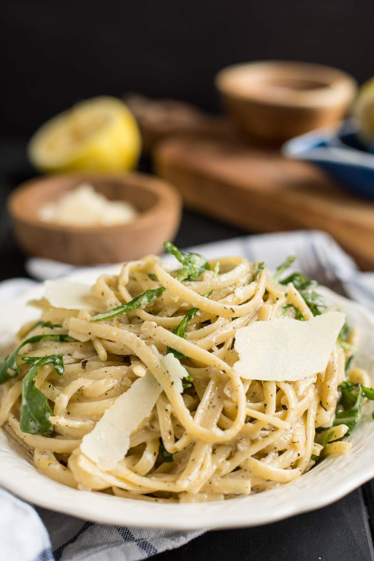 Creamy Parmesan Lemon Linguine is the perfect 30 minute meal.