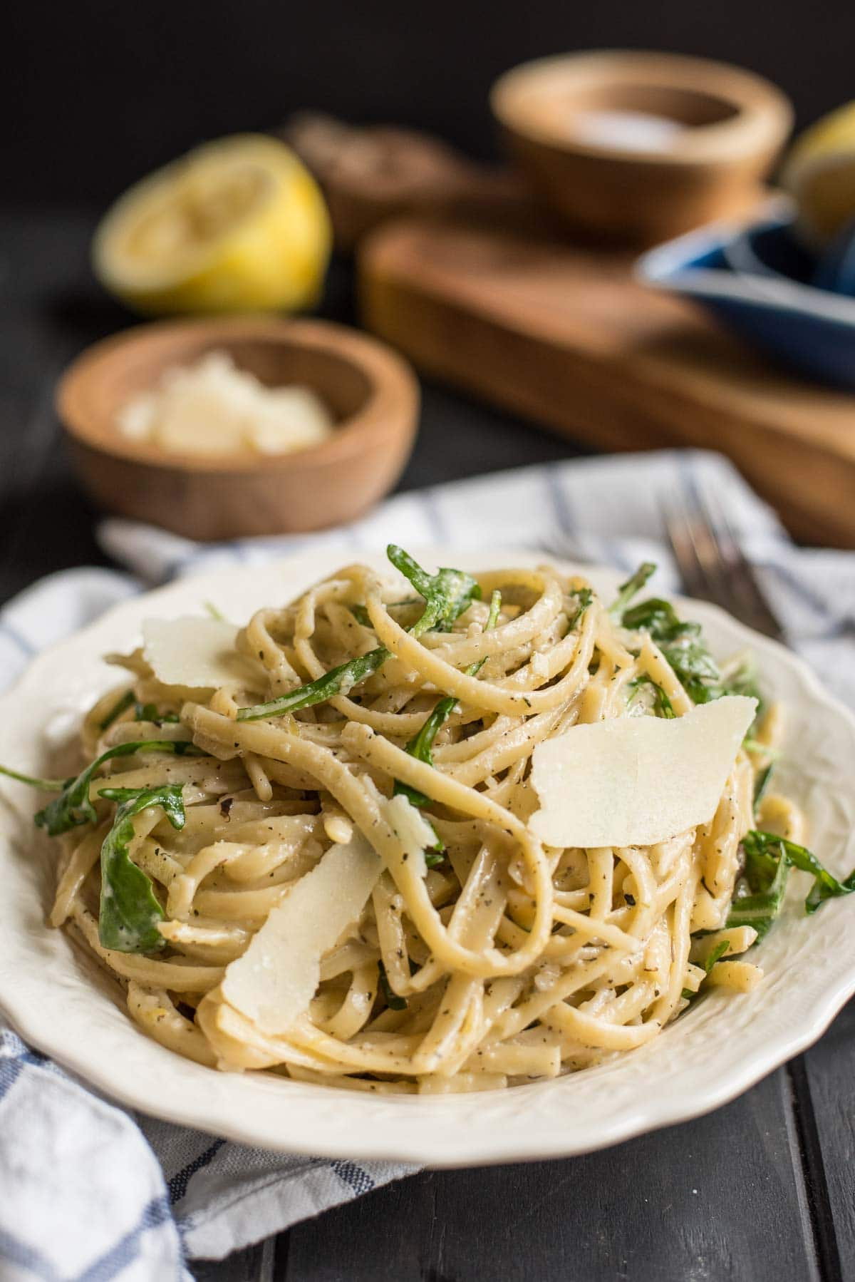 You can have this creamy, comforting Parmesan Lemon Linguine recipe on your table in 30 minutes.