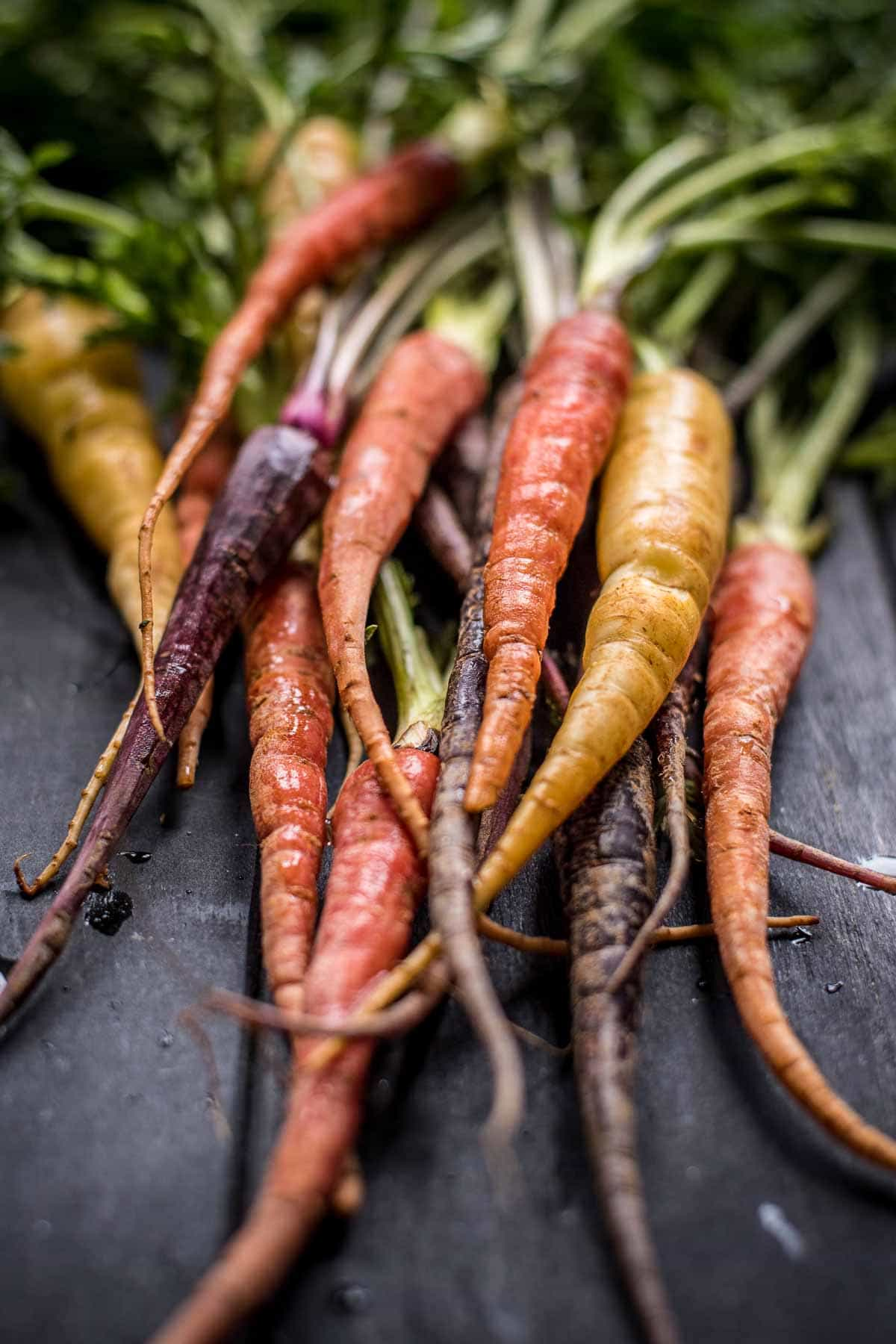 Gorgeous Colored Baby Carrots